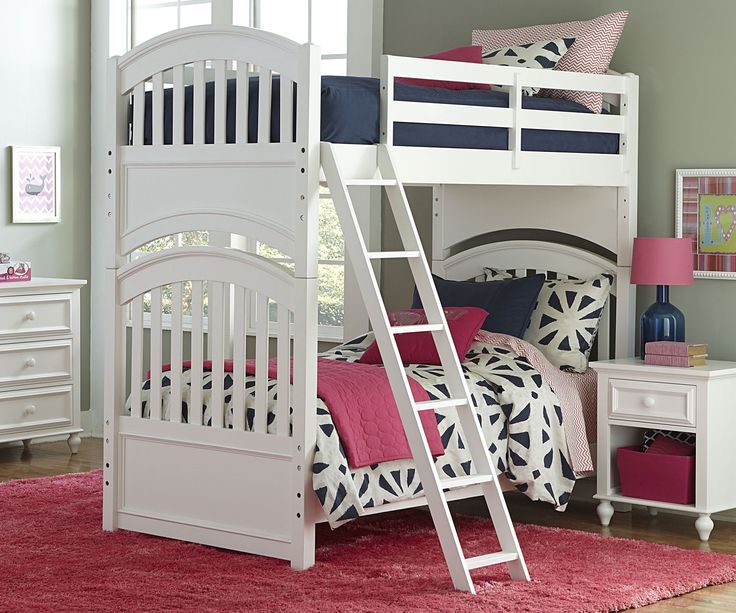 Legacy Classic Kids Furniture Academy Collection Bunk Bed Full over Full White Finish 5811-8150K