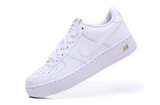 save off 43bec ae416 Mens Womens Shoes Nike Air Force 1 White Metallic Gold 314192 178