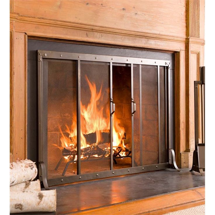 wooden fireplace screens. Large Riveted Fireplace Screen  44 L x 6 D 32 1 Best 25 Modern fireplace screen ideas on Pinterest