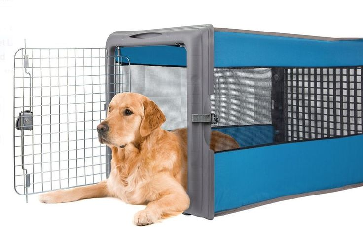 Plastic Folding Dog Crate Collapsible Pop Up Crates Large Medium Dogs Portable #SportPet