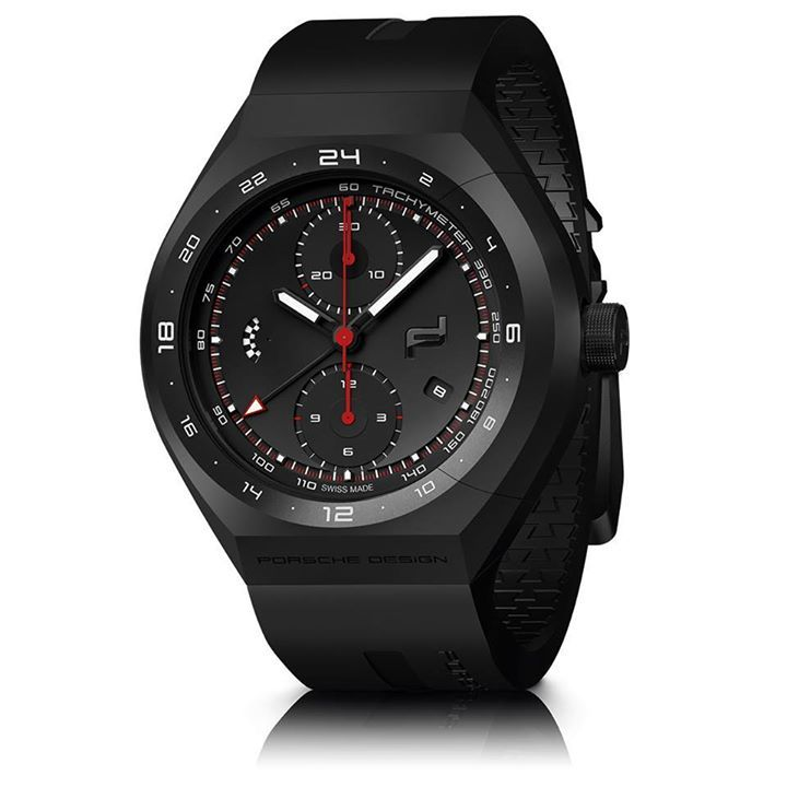 Porsche Design Design MONOBLOC ACTUATOR 24 H Chronotimer  Construido en caja de titanio, esta pieza se extiende hasta los 45.5 mm de diámetro, y se abraza al pulso gracias a una correa de caucho vulcanizado de gran resistencia y fiabilidad.  Precio por inbox. #PorscheMX #WatchesWorld, los relojes de tu vida.