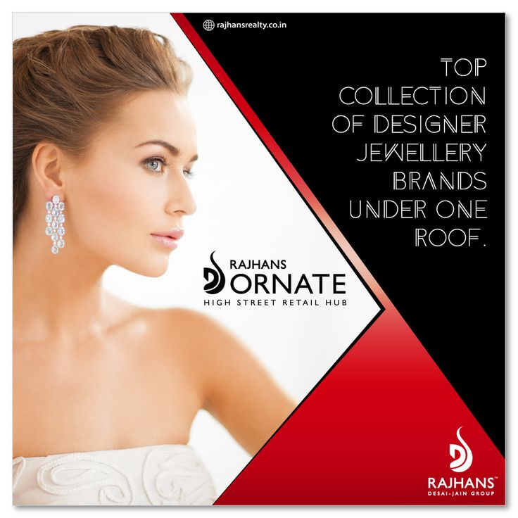Top collection of designer jewellery brands under one roof.  #RajhansOrnate #ParlePoint #RajhansRealEstate #Surat