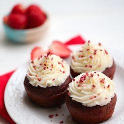All natural red velvet cupcakes