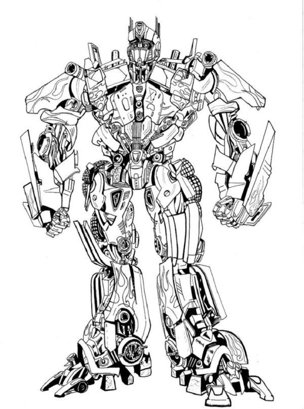 Optimus Prime Coloring Pages Collection Transformers Coloring Pages Coloring Pages Transformers Drawing