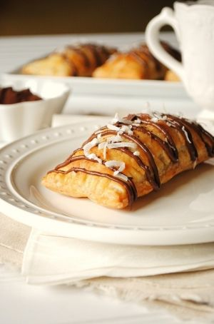 Nutella, Banana and Coconut Hot Pockets. Oh my soul. I think I have this all in my house, except the coconut. Looks good. by lucy