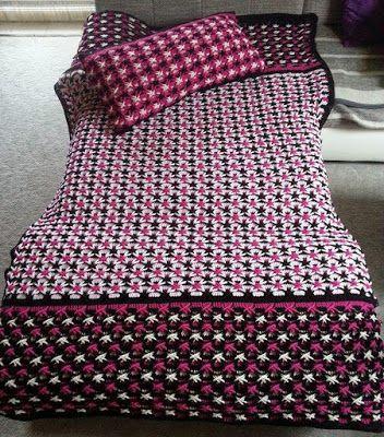 """Irish crochet &: ПОКРЫВАЛО И ПОДУШКА УЗОРОМ """"ПОЛЬСКАЯ ЗВЕЗДА"""". МК ОТ Lisa"""