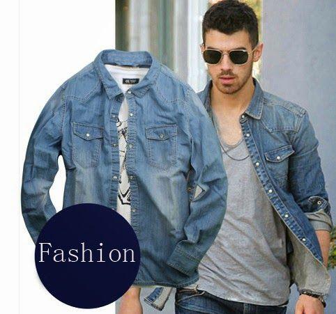 combinar camisa de mezclilla-camisa de jeans-moda hombre- chicos bellos-tendencia hombre-gq