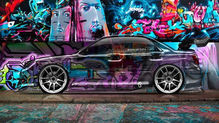 Subaru Impreza WRX STI Side Crystal Graffiti Car