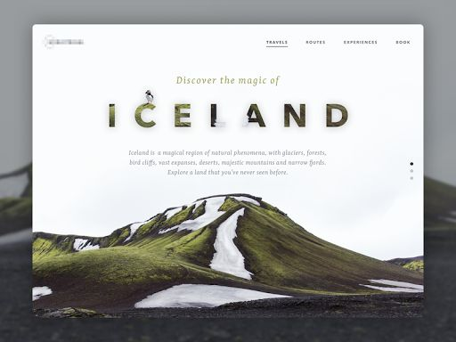 Travel to Iceland - Landing Page