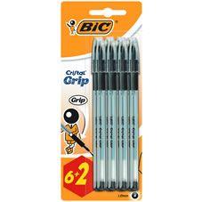 Bic Cristal Grip Pens Black 6pk £1.50