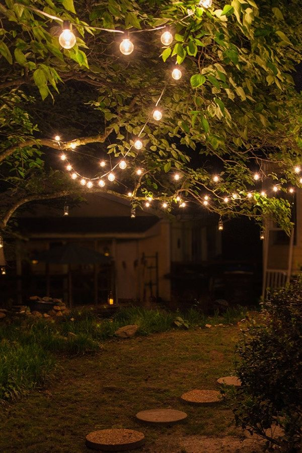 Beautiful Patio Lighting Projects To Build To Complete Your Patios Outdoor Patio Lighting D Outdoor Tree Lighting Diy Outdoor Lighting Outdoor Patio Lights