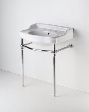 Two Leg Single Washstand Traditional Bathroom Vanities