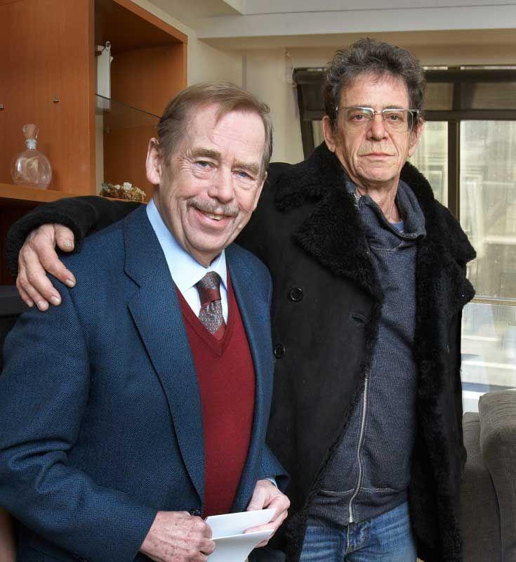 Lou Reed and Václav Havel together in Prague: Photo: Ondřej Němec
