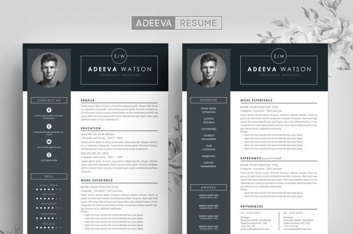 11 best resume template images on pinterest resume templates cv