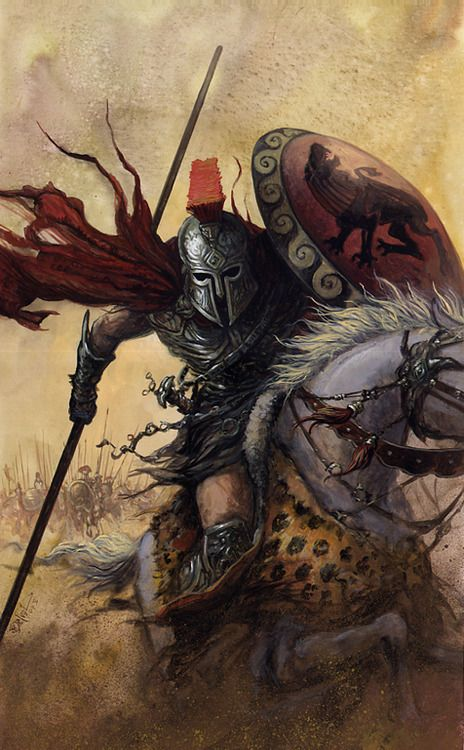 Spartan Warrior on Horseback
