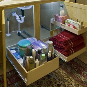 Under Kitchen Sink Storage Drawers
