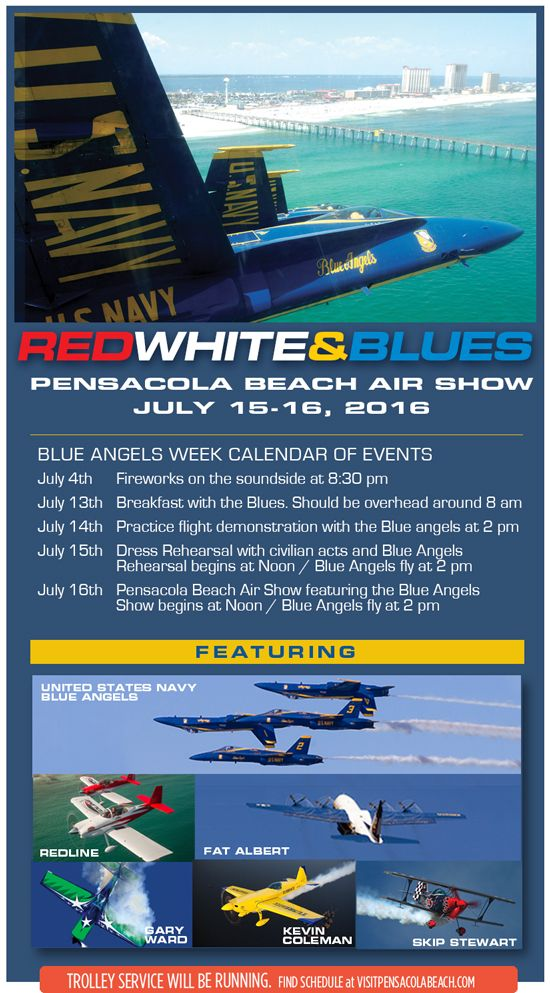 Pensacola Beach Air Show in 2019 Pensacola beach, Blue