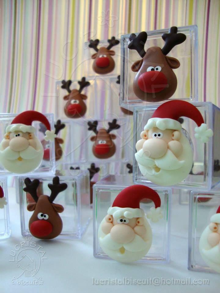 porcelana fria, biscuit Santa sobre círculo blanco de barba
