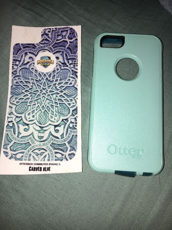 iPhone 5s Otter box Aqua Mint Dark Teal Color With Skin decal Otterbox - http://phones.goshoppins.com/phones-cases/iphone-5s-otter-box-aqua-mint-dark-teal-color-with-skin-decal-otterbox/