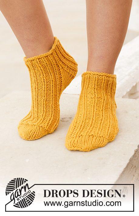 Sun Spun Socks / DROPS 198-14 – Free Knitted …