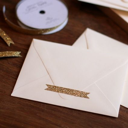 Create envelope seals with glitter adhesive tape blank supplies inspiration