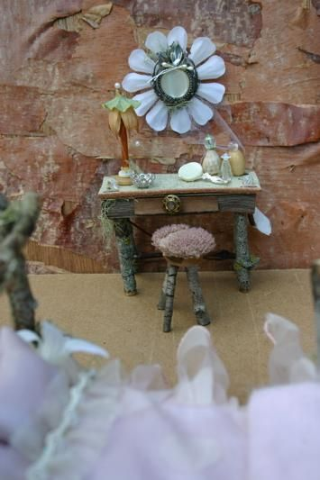 ....love the idea of my fairy house having a vanity!!!