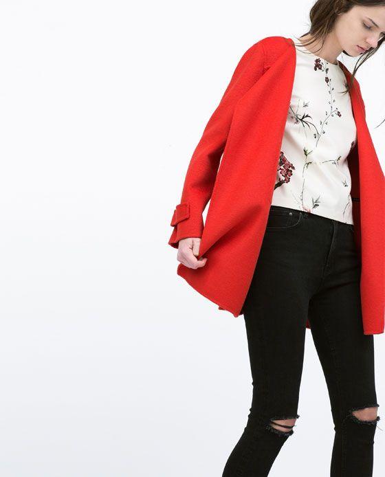 Manteau Rouge Collection 2015