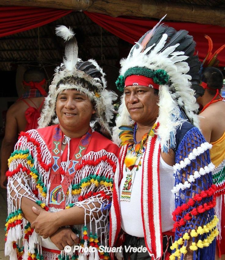 Dag van de inheemse volkeren. Native day in Suriname (indians)