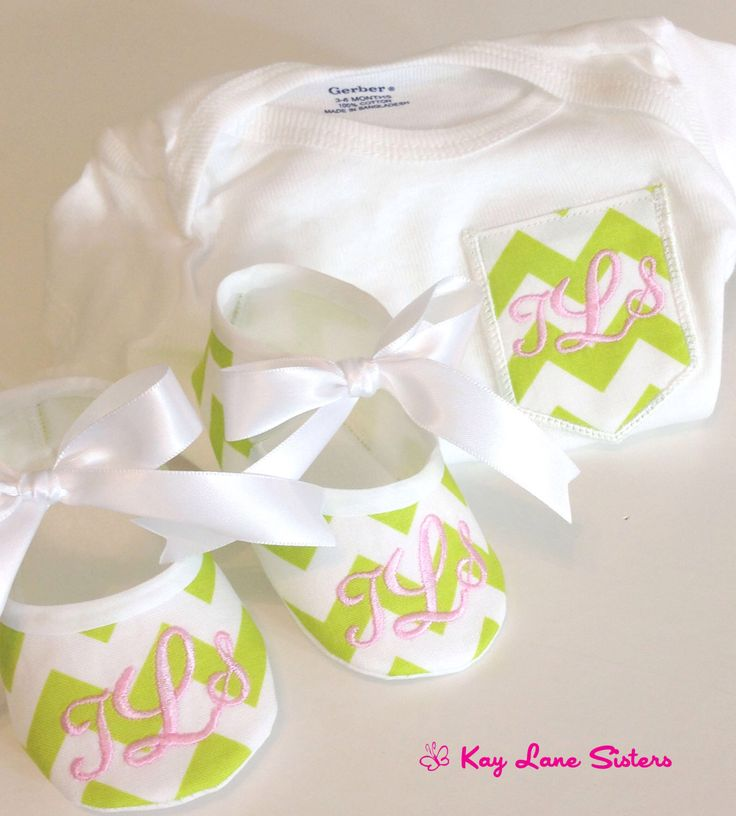 Chevron Pocket Tee - Monogrammed Baby Shoes - Chevron Pocket Onesie - Onesie and Match Shoes by KayLaneSisters on Etsy https://www.etsy.com/listing/184839131/chevron-pocket-tee-monogrammed-baby