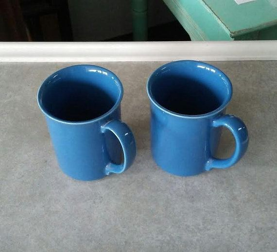 Check out this item in my Etsy shop https://www.etsy.com/listing/500554965/blue-coffee-mug-set-two2-corning-coffee