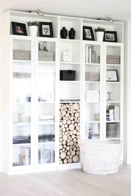 Ikea bookshelf.... I like the glass doors