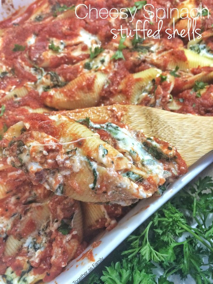 ... on Pinterest | Stuffed Shells, Stuffed Shells With Meat and Spinach