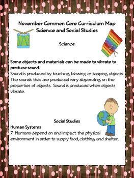 Kindergarten Common Core Curriculum Map