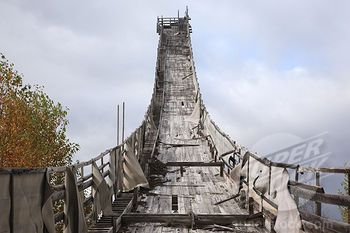 new hampshire abandoned property | Site of the abandoned Nansen Ski Jump in Milan New Hampshire USA. This ...