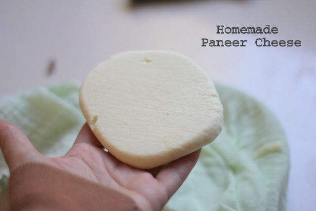 paneer cheese. All you need is full-cream milk, lemon or lime juice (or vinegar), and some muslin cloth (or an old thin cotton pillow slip or a well loved t-shirt).