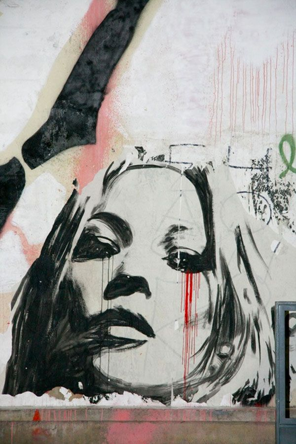 by street artist Konny – Kate Moss