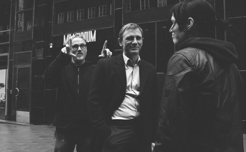 David Fincher with Daniel Craig and Rooney Mara - The Girl with the Dragon Tattoo