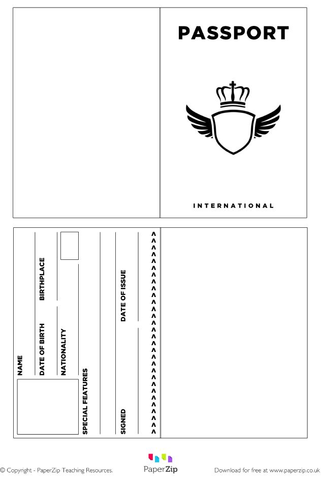 best 25  passport template ideas on pinterest
