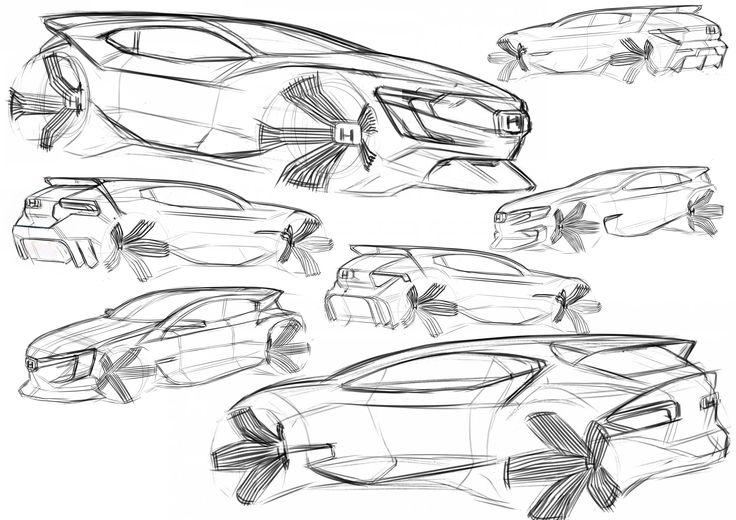 Honda Civic sketches