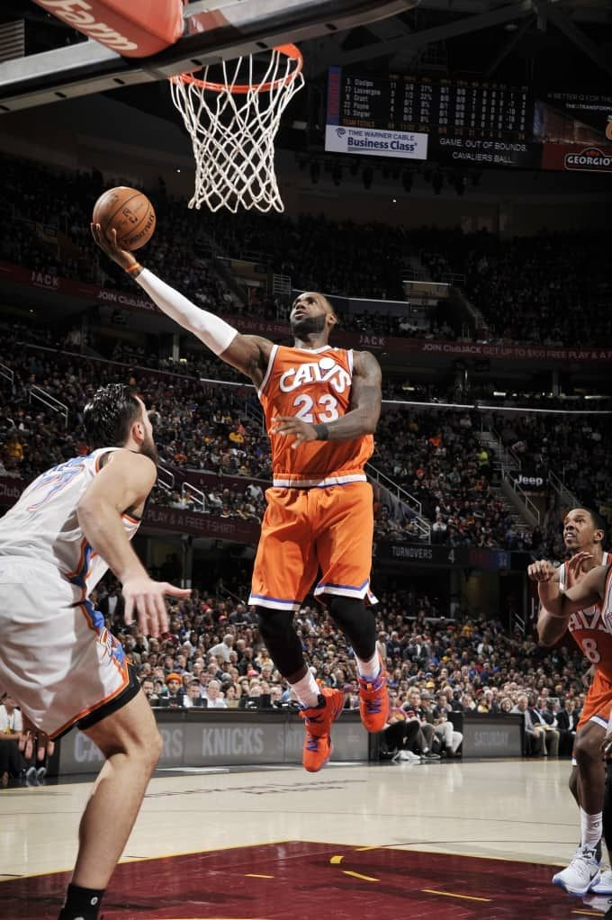 LeBron James notched his second straight and 21st double-double of the season (338th of career) with 25 points, a season-high 14 rebounds and eight assists in 37 minutes 1/29/17 vs the Thunder.  With a layup at the 9:39 mark of the 2nd quarter, James became the first player in franchise history to reach 20,000 points. He is now just one of four active players to score 20,000 points with one organization (Dirk Nowitzki – DAL; Paul Pierce – BOS; Dwyane Wade – MIA) (ESPN Stats & Info).