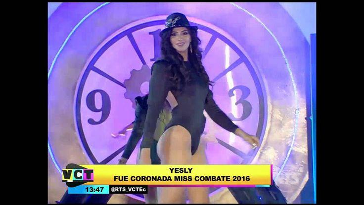 Yesly Bustamante es la Miss Combate Ecuador 2016