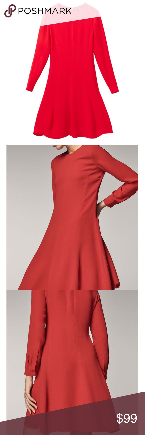 Massimo Dutti A-line dress Brand new with tags, beautiful fabric, really nice flowy dress , you may dress up and down Massimo Dutti Dresses