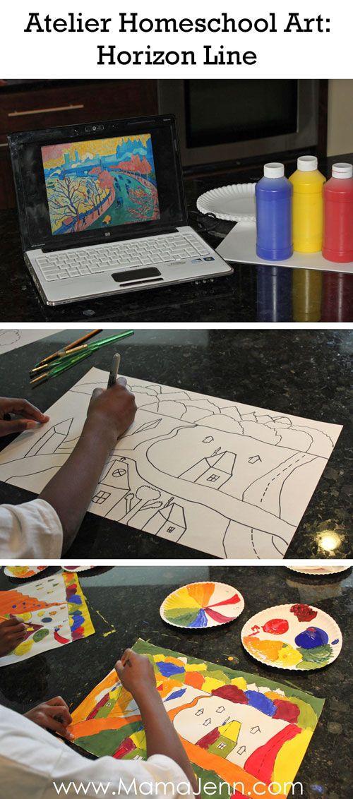 Atelier Homeschool Art Horizon Line Lesson