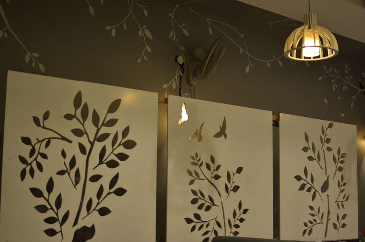 F Eleven Restaurant:an indian fusion style frosted  glass panel.
