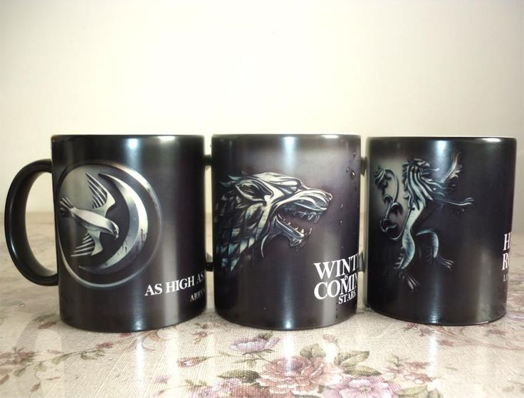 Game of Thrones Custom Color Changing Coffee Mug (Stark, Arryn, Lannister)