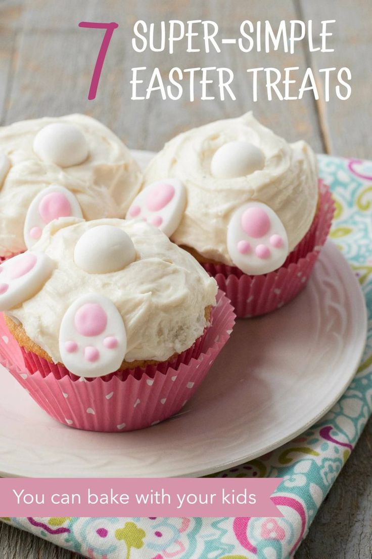 Super-simple Easter treat ideas for baking with your kids. These sweet spring holiday desserts require almost no baking and rely on simple tricks that pack a big punch. Put the focus on fun in your holiday kitchen. #easterrecipes #eastertreats #easterdesserts