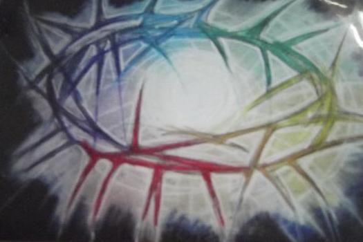 Mind of Christ pastel  copyright sharron jones