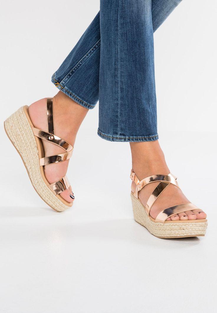 New Look OCTAVE - Sandaletter med kilklack - rose gold - Zalando.se
