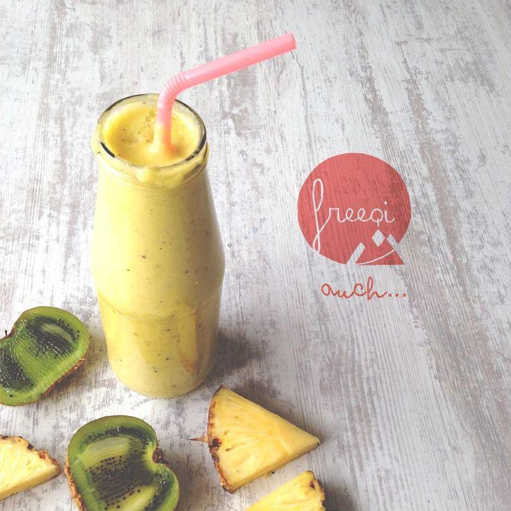 Hola! esto es freeqi jugo de piña + kiwi <3  #freeqiporlasfrutas   https://www.facebook.com/freeqiviajaliviano