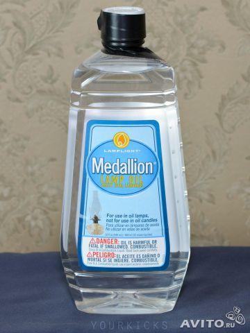 Масло/керосиновый заменитель MEDALLION от фирмы Lamplight Farms для масляных фонарей, модель Lamp Oil/Kerosene Substitute, арт.:LLF6032. Цвет:прозрачный(Clear). Производство США. Куплен в США за 6 долларов + пересылка.